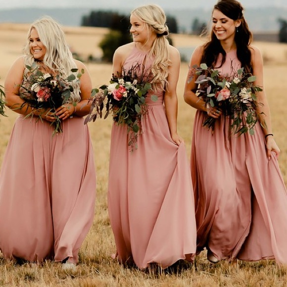 shop for quality and quantity assured world-wide free shipping Azazie Dusty Rose Bridesmaids Dress